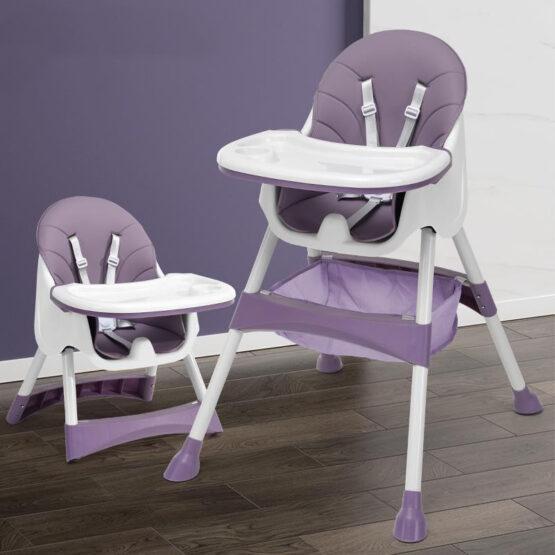 Стульчик для кормления из эко кожи (purple)